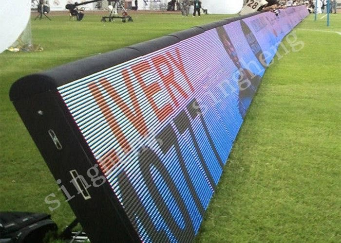 Outdoor LED Football Pitch Advertising Boards Excellent Color Consistency