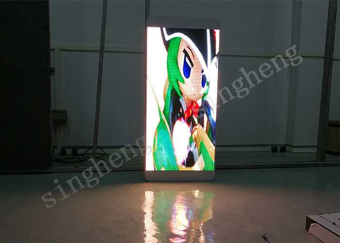 Remote Control Outdoor Pole LED Display 5mm Pixel Pitch Color Changes Arbitrarily