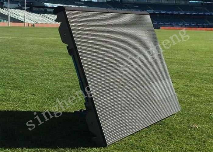 P10 Football Stadium Perimeter LED Display Unique Tilt Angle Design Eye Catching